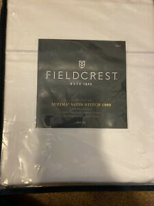 Fieldcrest Full Supima Satin Stitch 1000 Hotel Percale Sheet Set Cotton