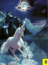 """Glow In The Dark Andrew Farley """"Mystical Unicorn"""" Boxless Puzzle Moon *NEW*"""