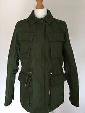 H&M Khaki Green Utility Jacket  Pockets Bloggers On Trend Size 8-10 BNWT