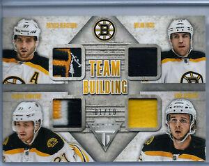 2013-14 Titanium Team Building Quad Patch #2 Boston Bruins 01/10