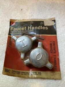 Pair of Vintage Faucet Handles Knobs