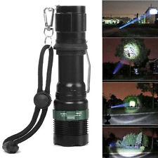 8000LM Con zoom XM-L Q5 Linterna LED 3 Mode Superbrillante luz Antorcha Lámpara