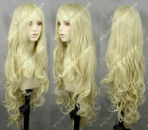 Milk Blonde Wavy Lolita Princess Party Cosplay Hair Wig 100CM