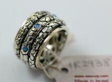 Silver snake  opal SEANOY  Israeli handcrafted size 6.25- 7.25 spinning  2938