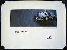 PORSCHE OFFICIAL CAYENNE S COLD SHOWER SHOWROOM ADVERT POSTER 2005 LARGE USA