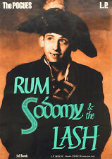 Reproduction The Pogues Poster,Rum Sodomy & The Lash, Vintage Print.