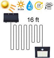 16ft Split Solar LED Magnetic Camping/Gardan Light PIR Motion Sensor Wall Lamp