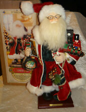 "Grandeur Noel Collector's Edition 16"" Santa With Toys on Wood Base in Box"