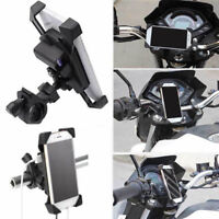Motorcycle Charger Cell Phone Mount Holder Clamp With Usb Charger Atv Gps AU