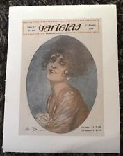 Original VARIETAS linen Italian 6x9 magazine cover May 1918 great A.B. art