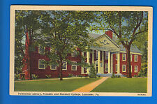 Franklin & Marshall College Lancaster Pa Postcard! Fackenthal Library!