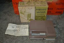 """RARE Vintage 1965 Kembric Mfg. No. 222 Portable Vacuum """"D"""" Battery Operated"""