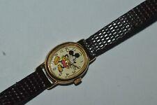 Vintage Lorus V811-5070 Mickey Mouse Quartz Watch 17mm Metal Works Fine Classic