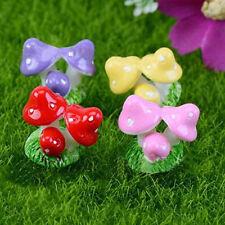 4X Mushroom Garden Ornament Miniature Figurine Plant Pots Fairy Dollhouse Decor