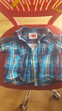 BOYS MOTHERCARE SHORT SLEEVED CHECKED SHIRT , 6-9 MONTHS PERFECT CONDITION