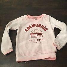 Scotch R'Belle California Indigo Fifties Hamburger Sweatshirt Dress Sz 4/104
