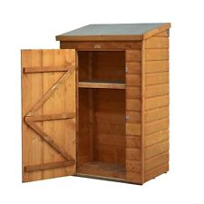Shed Mini Wooden Store Small Outside Garden Storage Unit Shiplap Cladding Tools