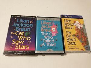 Lilian Jackson Braun Audio Cassettes CAT WHO SAW STARS, TAILED A THIEF, WASN'T..