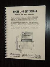 Storm Vulcan Model 200 Superclean Hot Tank Manual