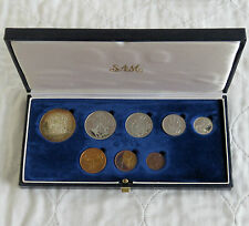 SOUTH AFRICA 1983 8 COIN PROOF YEAR SET WITH SILVER 1 RAND - SAM BOX