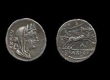 FABIA . ( CAIUS . FABIUS . HADRIANUS ) . DENIER . 102 AV . JC .
