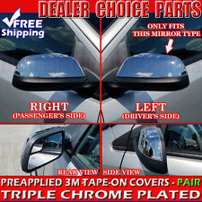 2011 2012 2013 2014 Ford Edge Chrome Mirror COVERS Half Overlays Trim Cap