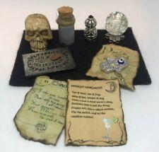 Ouija Board Lot Dollhouse Fairy Garden Halloween Miniature Black Themed Hamsa