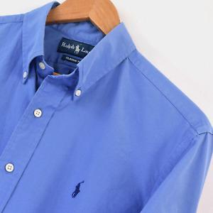 Mens Ralph Lauren Blue Classic Fit Long Sleeve Shirt Size M Medium