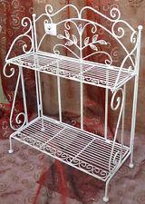 Regal Metall Shabby Antik Schuhregal Wandregal Telefonschränkchen 0942020-Wb