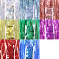 1-4M Tinsel Curtain Backdrop Fringe Curtain Party Decor Glitter Shimmer Curtain