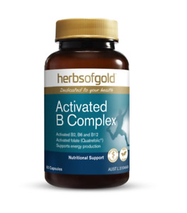 Herbs of Gold High potency activated B complex 60caps- Same Day Dispatch