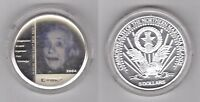 NORTHERN MARIANA ISLANDS – SILVER PROOF 5$ COIN 2004 YEAR X#5 EINSTEIN HOLOGRAM