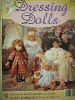 DRESSING DOLLS - Sewing Pattern Book with 9 Complete Outfits in VGC