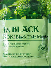 IN BLACK NONI Black Hair Magic Herbal Original Natural Essence Shampoo Dye 25 ml