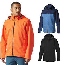 Adidas Men\u0027s Outdoor Wandertag Jacket ClimaProof Rain Jacket Windbreaker NEW
