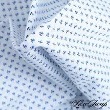 LNWOT Ledbury White Allover Mini Royal Blue Floral FRESH Pocket Square NR #20