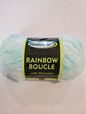 Sensations rainbow boucle with shimmer yarn 11 oz turquoise new. 1 skein.