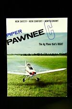 PIPER PAWNEE C Full Color Sales Brochure 6 Pages USA Vintage Right Ag Plane Gift