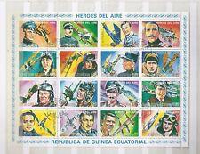 Bloc-feuillet Héros de l'aviation GUINEE EQUATORIALE  1974 TBE