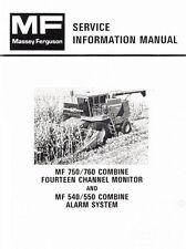 Massey Ferguson MF-750 760 Fourteen Chan. Monitor 540 550 Alarm Service Manual
