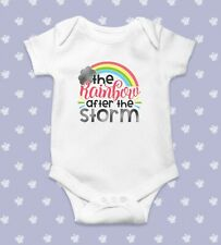 The Rainbow After Storm Baby Bodysuit   Baby Shower Gift   Cute Baby Clothes   F