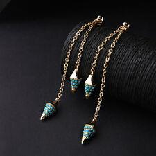 Boucles d`Oreilles Clous Doré Pique Mini Perle Turquoise Bleu Fin Class BB 10