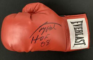 Larry Holmes Signed Boxing Glove Everlast Champ Autograph HOF 08 Inscription JSA