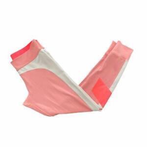 WOMENS ADIDAS STELLA MCCARTNEY PINK EXERCISE RUNNING LEGGINGS UK MEDIUM 12-14