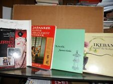 5 JAPANESE BOOKS - FLOWERS - GARDENS - SPIRIT - MIND - BOOKS