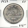 Canada 1937 Silver Dollar EF