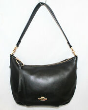COACH Black Leather Skylar Hobo Shoulder Bag 91028 Gold Hardware
