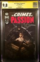 CRIMES OF PASSION #1 CGC SS 9.8 RYAN BROWN VARIANT BATMAN CATWOMAN JOKER HARLEY