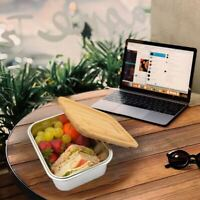 Ecofriendly Stainless Steel Bento Lunch Box w/ Bamboo Lid Sandwich Food BPA Free