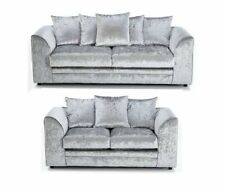 BRAND NEW  CRUSHED VELVET SHIMMER MARILYN CHICAGO 3 AND 2 SEATER SOFA SETTEE